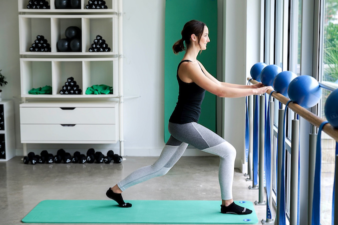 Lunges At The Barre, Position 1