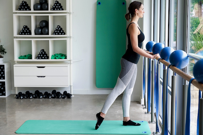 Standing Glutes At The Barre, Position 1