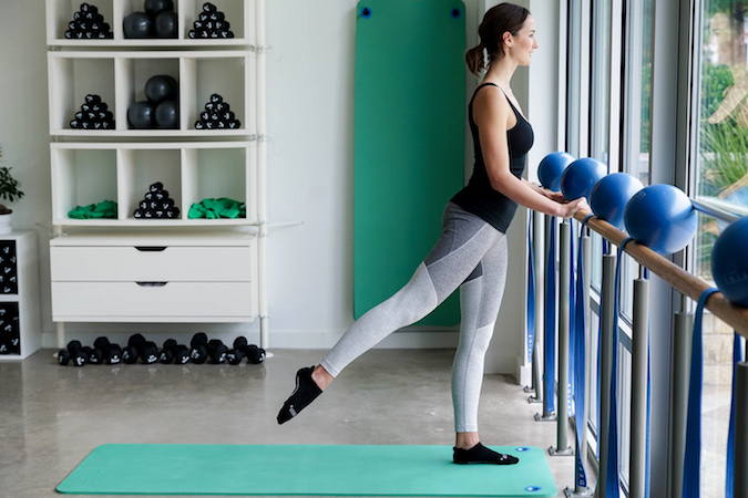 Standing Glutes At The Barre, Position 2